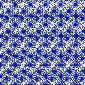 Flower Power! in blue on white