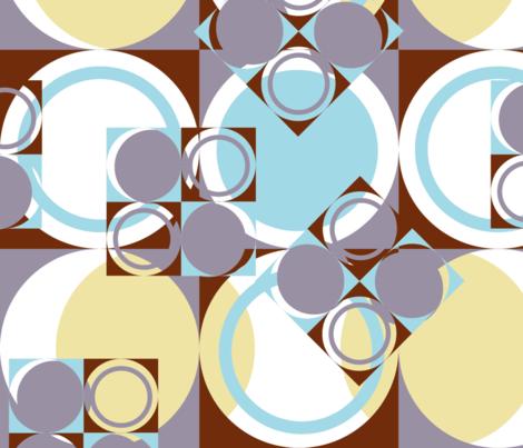 Pop Moon Geometric fabric by genebrown on Spoonflower - custom fabric