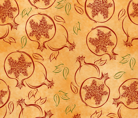 Pomegranista fabric by karistyle on Spoonflower - custom fabric