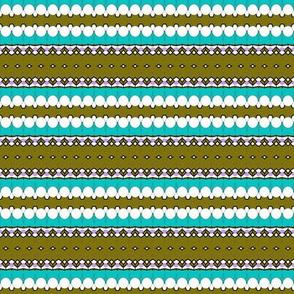 Diamonds in Olive Stripes