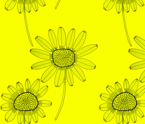 sunflowersyellow2 fabric by junej on Spoonflower - custom fabric