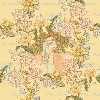Kate Greenaway Floral Circles ~ My Mother ~ Language of the Flowers