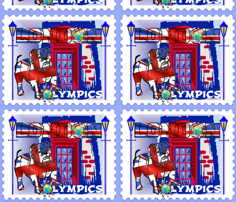 LONDON  WORLD OLYMPICS fabric by bluevelvet on Spoonflower - custom fabric