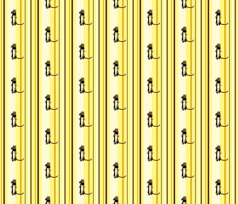 Mooglee Meercat on Fresh Desert Stripes fabric by smuk on Spoonflower - custom fabric