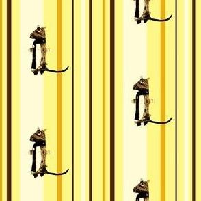 Mooglee Meercat on Fresh Desert Stripes