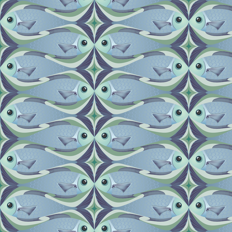 Fishkiss fabric by bippidiiboppidii on Spoonflower - custom fabric