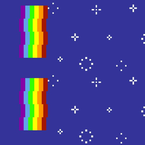 Nyan Cat (Poptart Cat) Rainbow Print