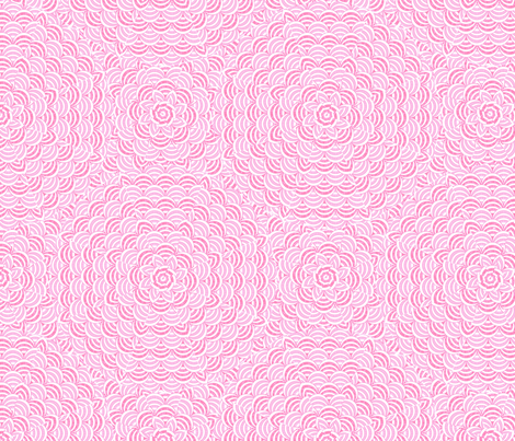 scallop_pinkwhite fabric by glimmericks on Spoonflower - custom fabric