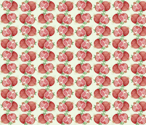 Small Pomegranite fabric by rennata on Spoonflower - custom fabric