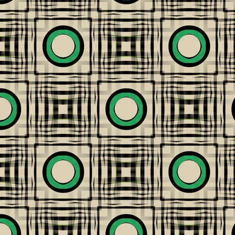 Gingham World (Glacier Green) fabric by david_kent_collections on Spoonflower - custom fabric