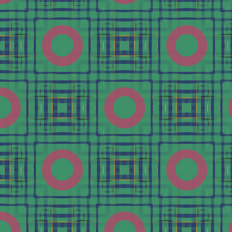 Gingham World (Blue) fabric by david_kent_collections on Spoonflower - custom fabric