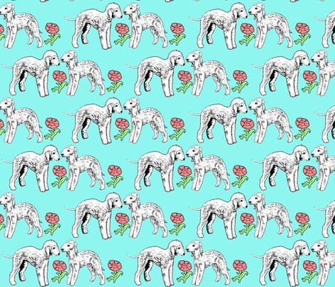 The Bedlington Terrier fabric by dogdaze_ on Spoonflower - custom fabric