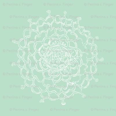 Seaglass Chrysanthemum