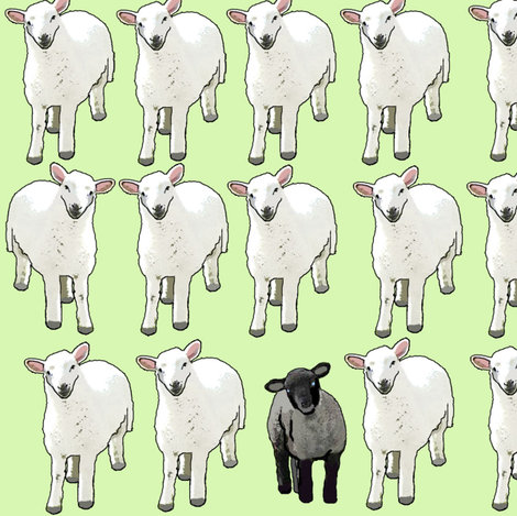 Black Sheep fabric by eve_s on Spoonflower - custom fabric