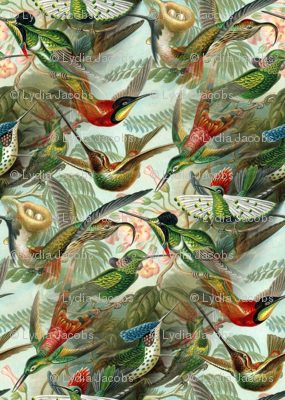 Vintage Hummingbird Pattern (small)
