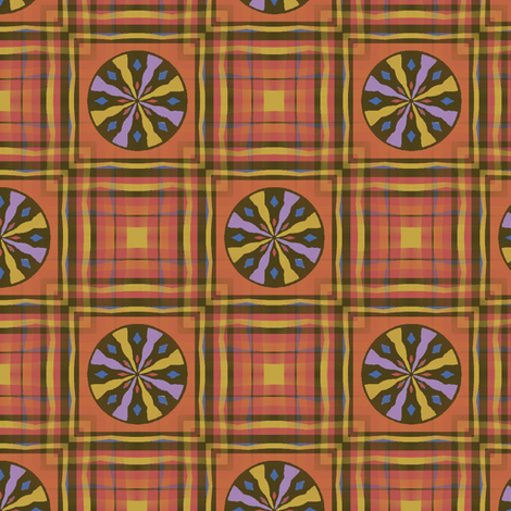 Gingham World (Rodeo) fabric by david_kent_collections on Spoonflower - custom fabric