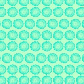 Whimsy Flower Aqua