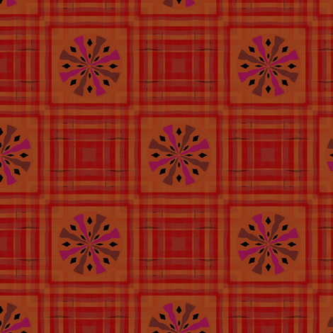 Gingham World (Red Roulette) fabric by david_kent_collections on Spoonflower - custom fabric