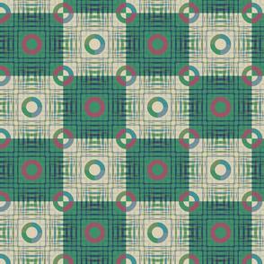 Gingham World (Checkerboard Green)