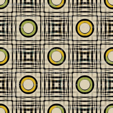 Gingham World (Mustard and Chartreuse)