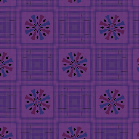 Gingham World (Violet Bloom) fabric by david_kent_collections on Spoonflower - custom fabric