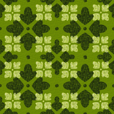 GREEN_FLORAL_WEAVE fabric by glimmericks on Spoonflower - custom fabric