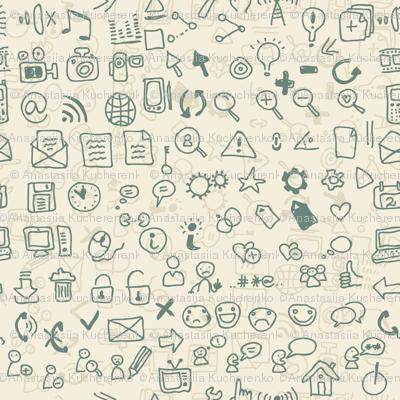 seamless media icons pattern