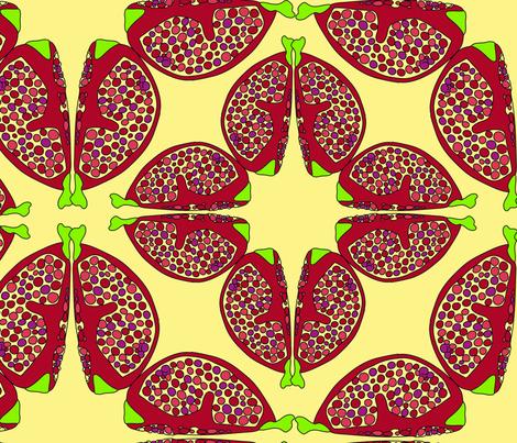 pomegranates fabric by helvoi on Spoonflower - custom fabric