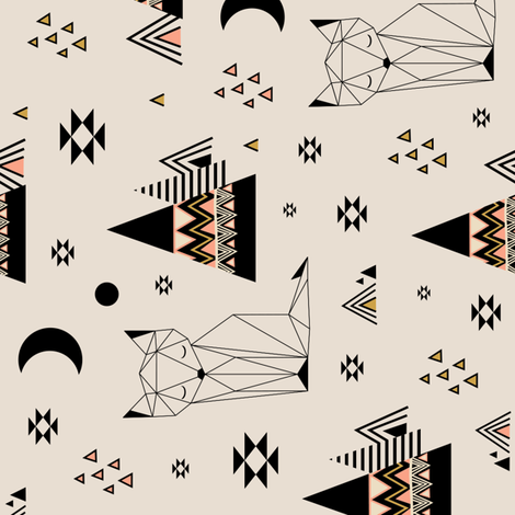 Distant Planet Vertical fabric by kimsa on Spoonflower - custom fabric