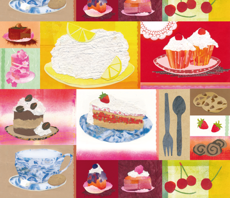 papercake fabric by johanna_design on Spoonflower - custom fabric