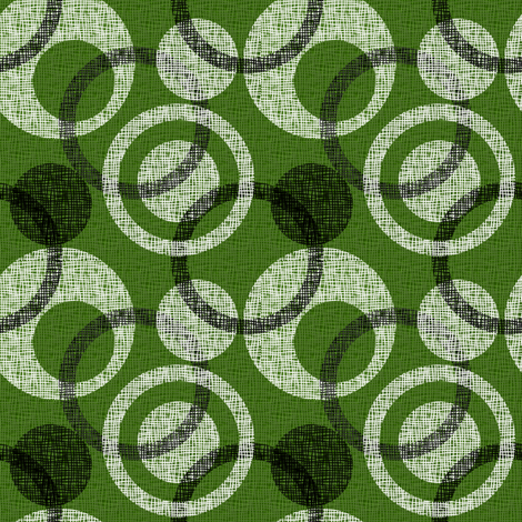 CIRCLE_WEAVE green fabric by glimmericks on Spoonflower - custom fabric