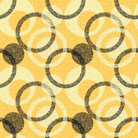 CIRCLE_WEAVE citrus fabric by glimmericks on Spoonflower - custom fabric