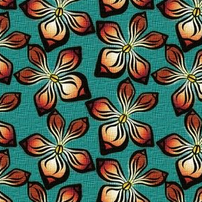 ORCHID_WEAVE on teal