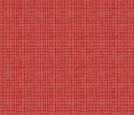 POMEGRANATE_GRID dark red fabric by glorydaze on Spoonflower - custom fabric