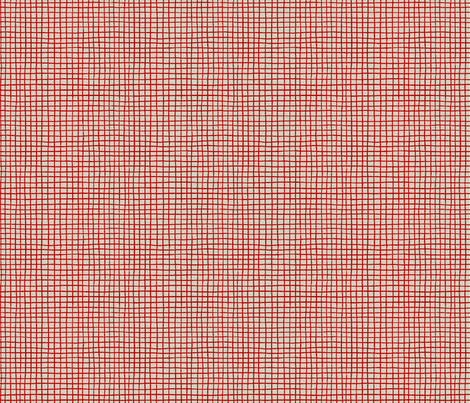 POMEGRANATE_GRID light red fabric by glorydaze on Spoonflower - custom fabric
