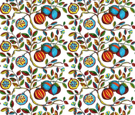 Pomegranate fabric by estrella_de_anis on Spoonflower - custom fabric