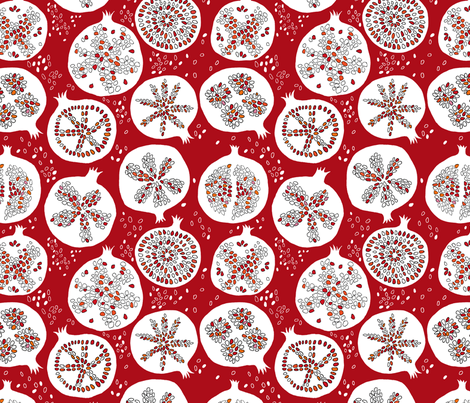 pomegranate seeds fabric by jeannemcgee on Spoonflower - custom fabric