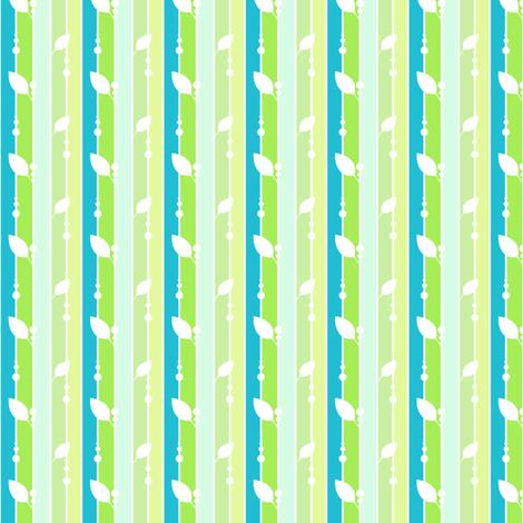 Leafydotty Striped - A Simple Wish  - © PinkSodaPop 4ComputerHeaven.com fabric by pinksodapop on Spoonflower - custom fabric