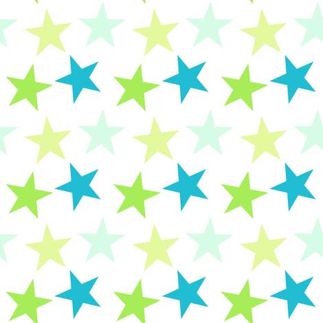 Big Stars - A Simple Wish - © PinkSodaPop 4ComputerHeaven.com fabric by pinksodapop on Spoonflower - custom fabric
