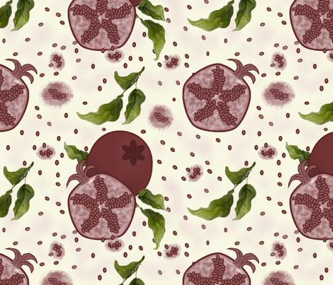 Pomegranate fabric by jabiroo on Spoonflower - custom fabric