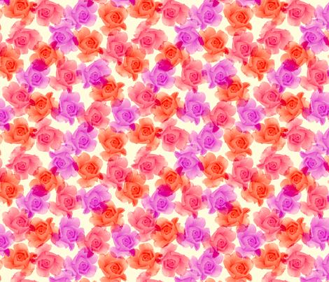 roses fabric by karacake on Spoonflower - custom fabric