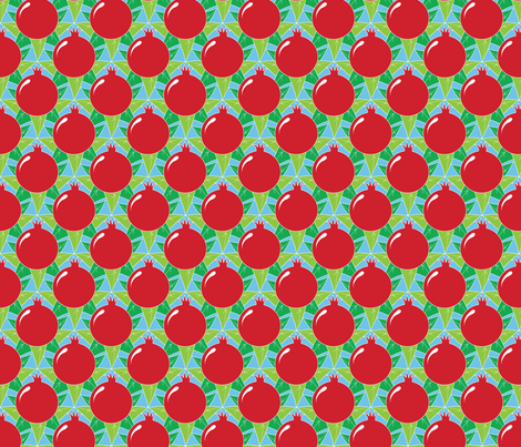 Pomegranates fabric by jjtrends on Spoonflower - custom fabric