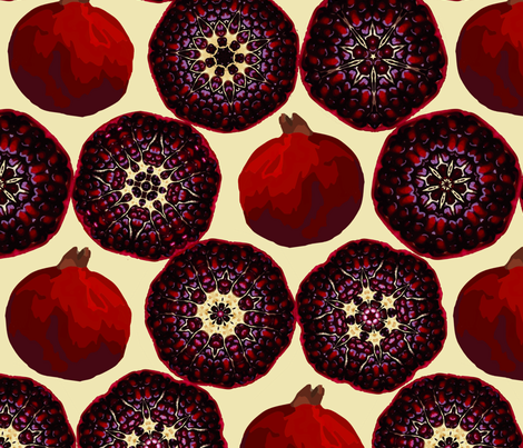 pomegranate fabric by allisonyoung on Spoonflower - custom fabric