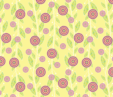 Pomegranate Seed Bouquets fabric by robyriker on Spoonflower - custom fabric