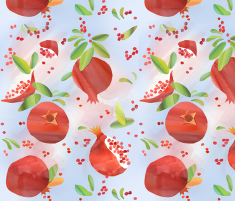Summer Pomegranates fabric by theboerwar on Spoonflower - custom fabric