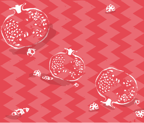 Pomegranate fabric by yaaliska on Spoonflower - custom fabric