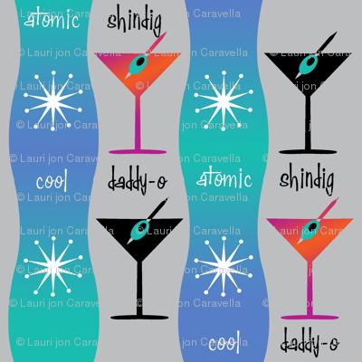Cocktail Dress Mod Mid Century Color