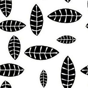 Jungle Leaves black