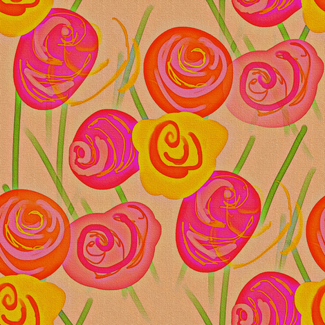 Rosey  fabric by peacoquettedesigns on Spoonflower - custom fabric