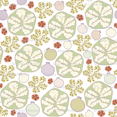 Pomegranate Scatter Print